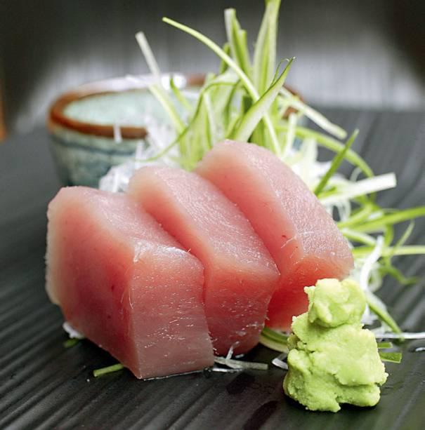 O ótimo e contado sashimi do Kinoshita