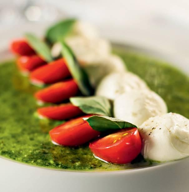 A salada caprese do Domenico
