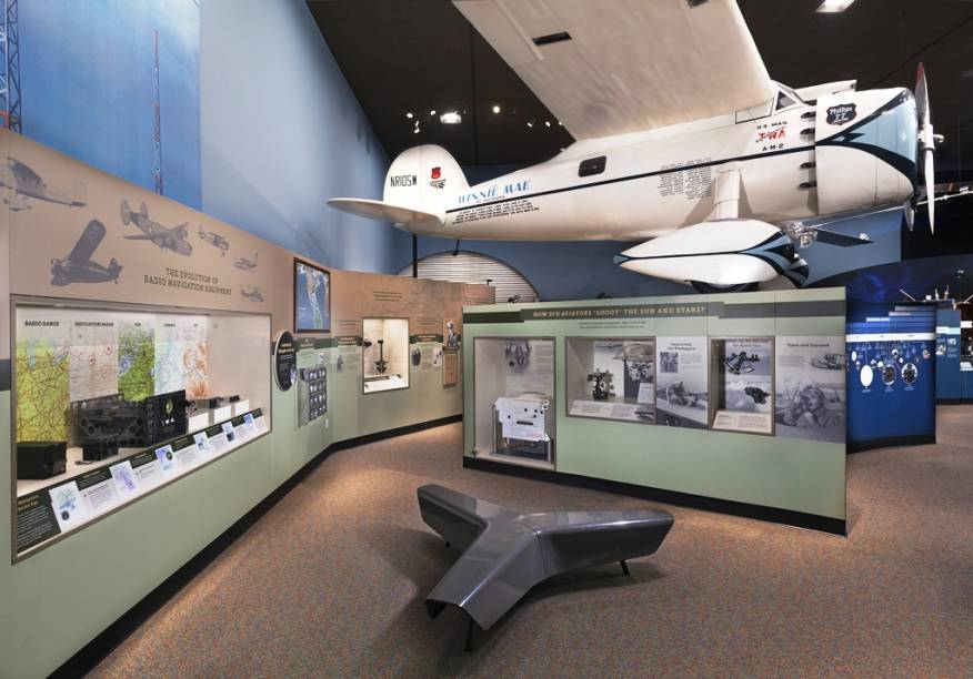Exposição no National Air and Space Museum de Washington DC, parte do Instituto Smithsonian