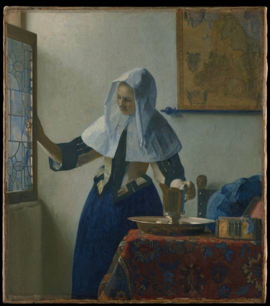 Young Woman with a Water Pitcher, Jan Vermeer, exposta no Metropolitan