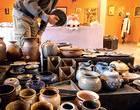 Cerâmicas e bordados da Casa do Artesão em Cunha