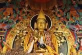 Escultura de Buda no Templo de Kopan, em Catmandu, no Nepal