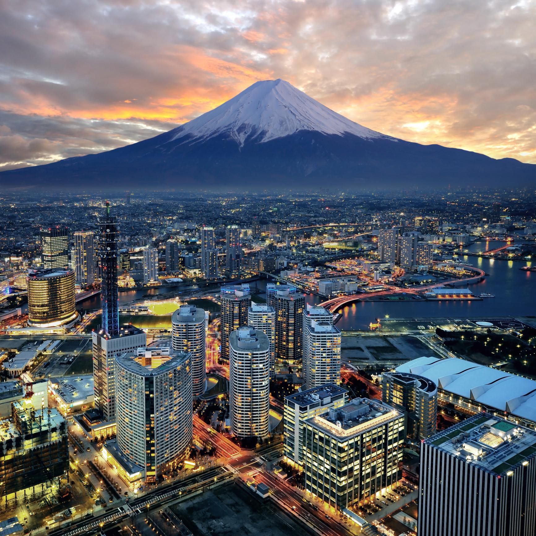 Cidade de Tóquio e Monte Fuji, no Japão