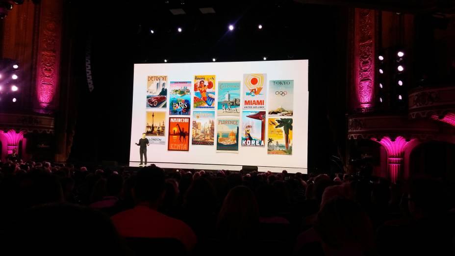 As novidades foram apresentadas no palco do Orpheum Theatre, em Los Angeles; entre elas, está o menu de experiências, em que usuários do Airbnb poderão contratar passeios exclusivos através da plataforma de aluguel de casas