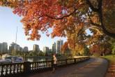 Stanley Park Seawall, em Vancouver, Canadá