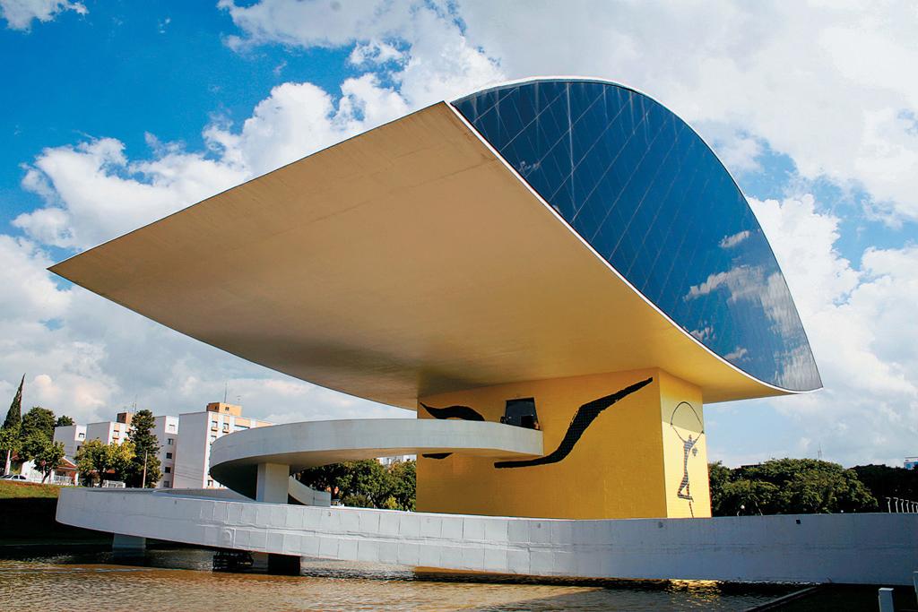 Museu Oscar Niemeyer, em Curitiba, Paraná