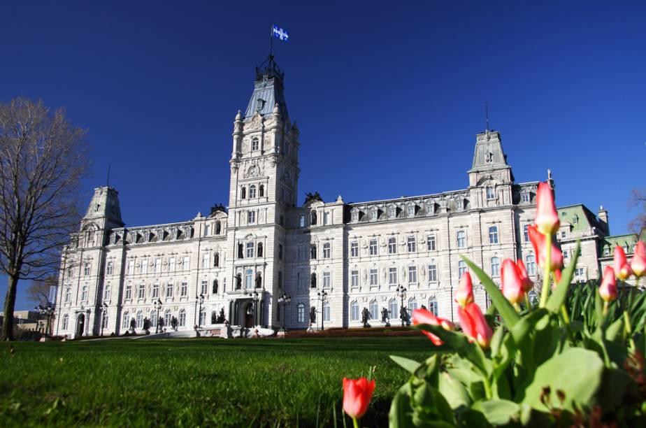O prédio do Parlamento de Quebec, construído no século 19