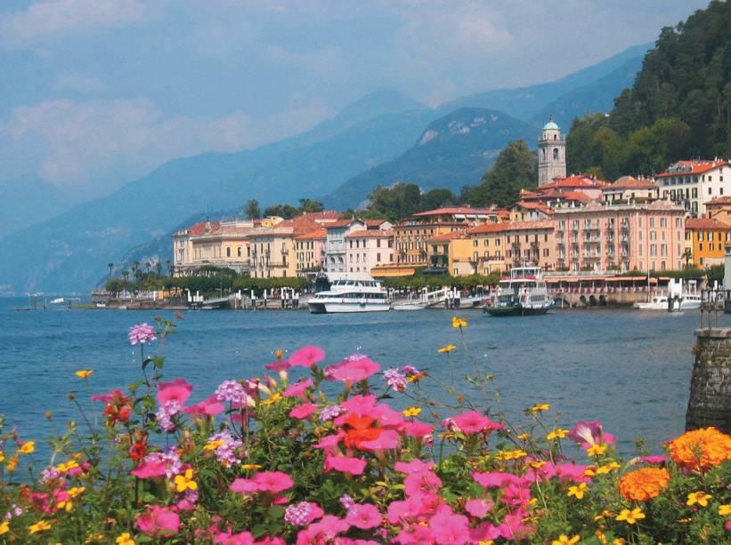 Vista do Lago di Como, na fronteira com a Suíça, um passeio popular para quem visita Milão