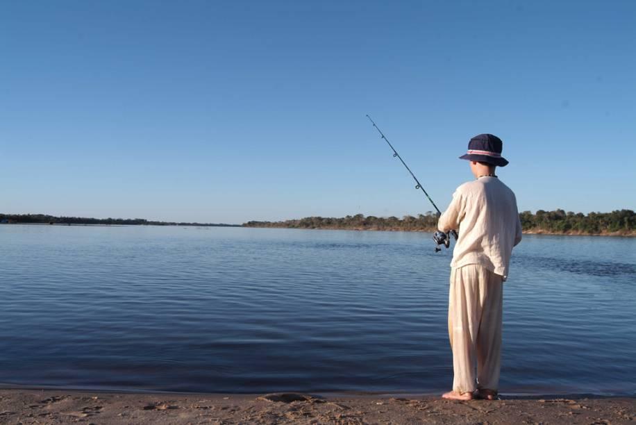 Aruanã (GO) é uma das cidades que oferecem maior estrutura para a pesca no Rio Araguaia. A melhor época é entre abril e junho quando o rio baixa e é mais fácil encontrar cardumes