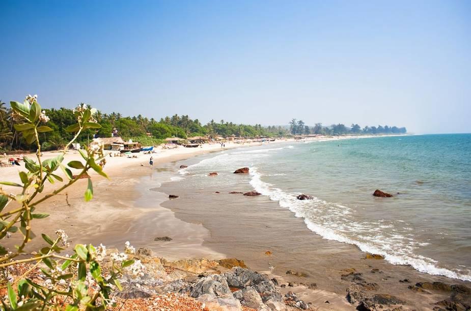 Praia Anjuna, em Goa, Índia