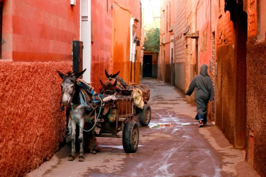 Na medina de Marrakesh, em muitos aspectos o tempo parou. Ruas, aromas, vestimentas e meios de transportes ainda são idênticos aos encontrados por viajantes de décadas atrás