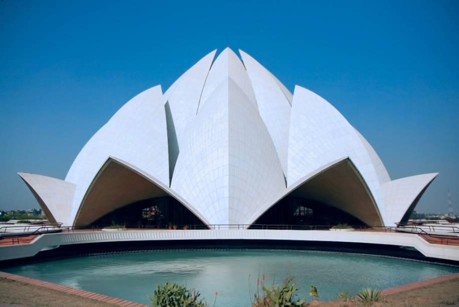 O Templo do Lótus, da Casa de Oração Bahai, em Nova Délhi, é uma casa ecumênica e um oásis espiritual na movimentada capital indiana