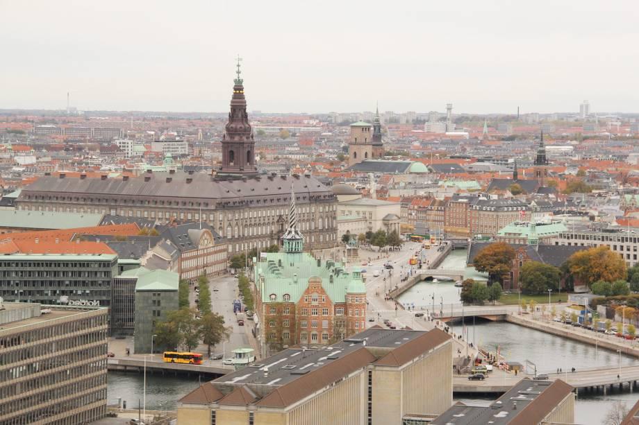 Vista aérea de Copenhague