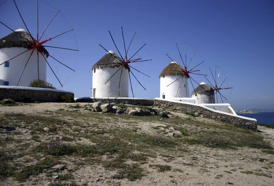 Os moinhos de vento de Mikonos