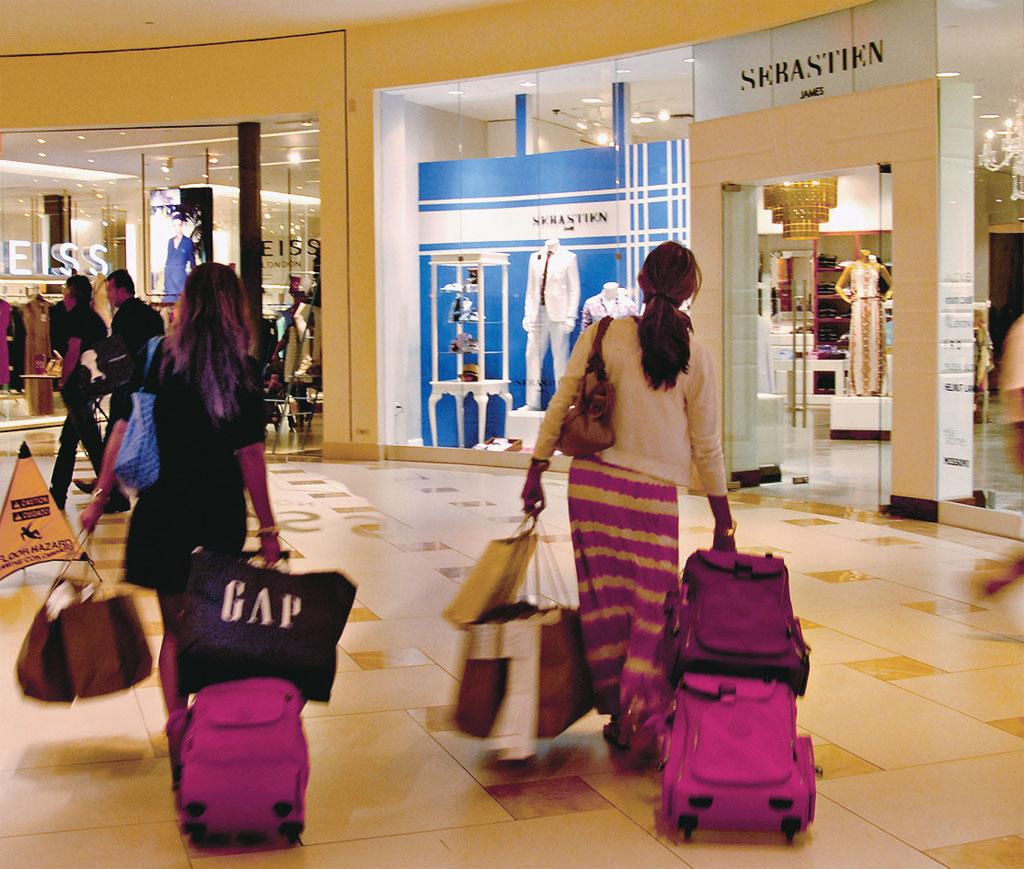 Saguão do Aventura Mall, em Miami