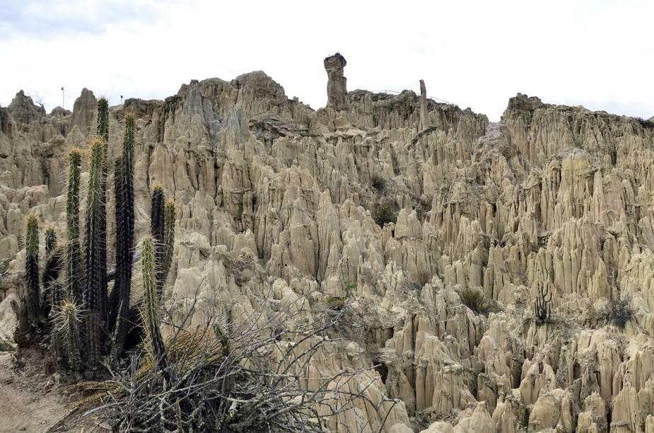 Uma das atrações nos arredores de La Paz é o Vale da Lua, com formações rochosas causadas por séculos de erosão
