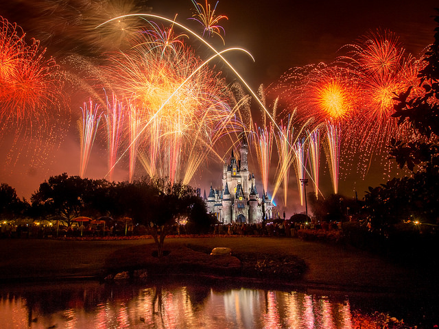 Fogos Wishes no Magic Kingdom, na Disney