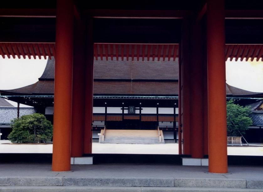Detalhe de edifício no Gosho, o palácio imperial de Kyoto. A cidade foi capital do Japão de 794 a 1869, quando esta foi transferida para Edo, a atual Tóquio