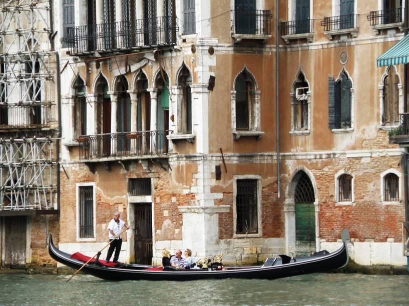 Gondoleiro no Gran Canal