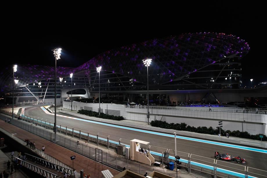 O Yas Marina Circuit, sede do GP de Fórmula 1 de Abu Dhabi