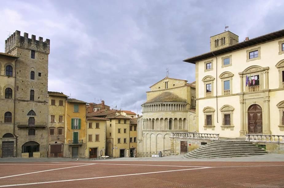 """Piazza Grande em Arezzo - um dos """"points"""" da cidade, que foi cenário para o filme <em>A Vida é Bella</em>, de 1997"""