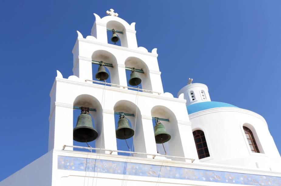 SInos de igreja em Mykonos