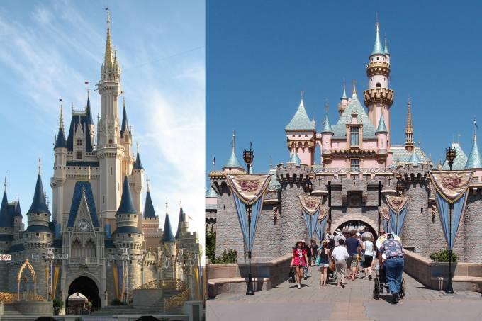 Castelos Cinderela e Bela Adormecida