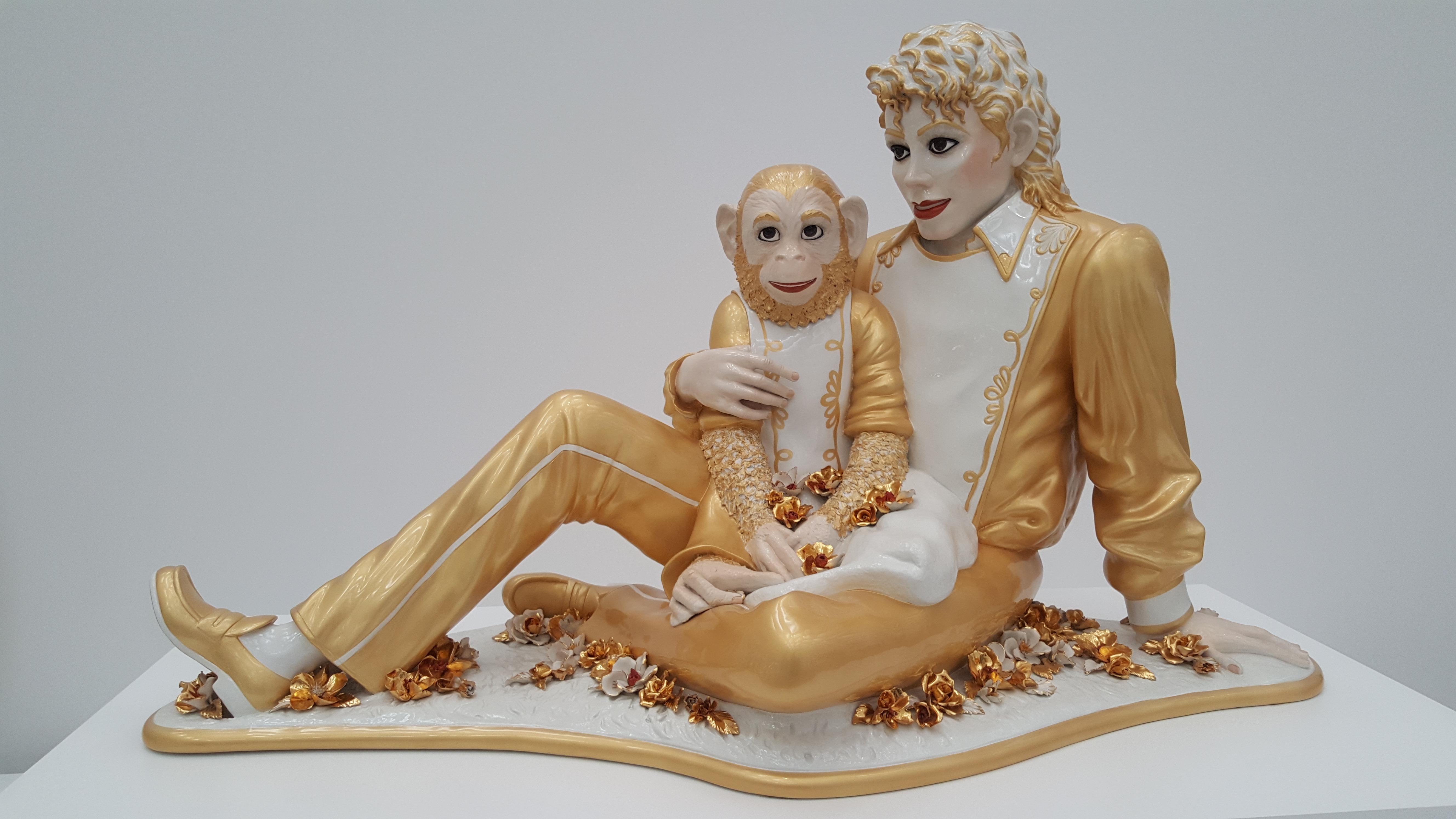 Michael Jackson and Bubbles, uma das obras mais bizarras da história da arte, de Jeff Koons