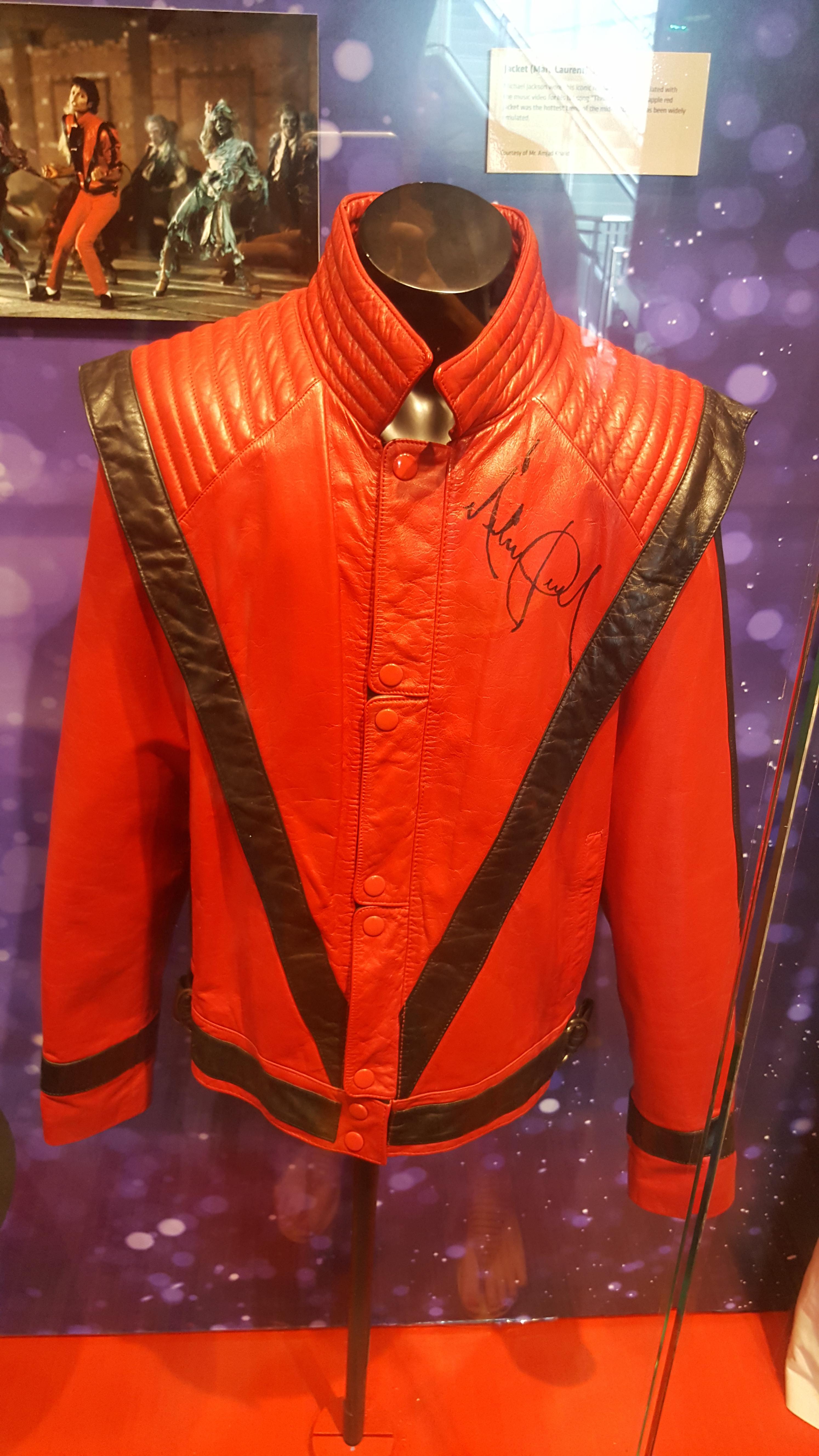 A jaqueta que o Michael Jackson usou em Thriller: uma das joias do Gramy Museum