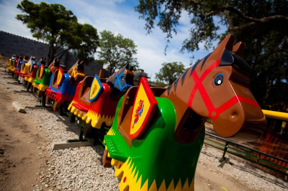Cavalinhos da Legoland, parque temático da Lego