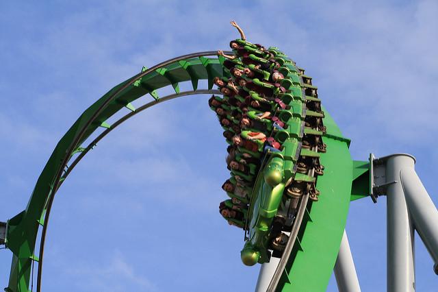Incredible Hulk Roller Coaster, Island of Adventures, Orlando, Florida, Estados Unidos
