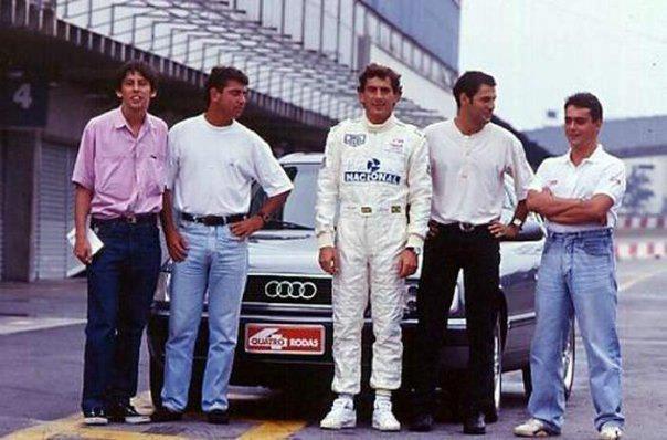 O último ensaio de Senna com o grande Marco de Bari / Repordução