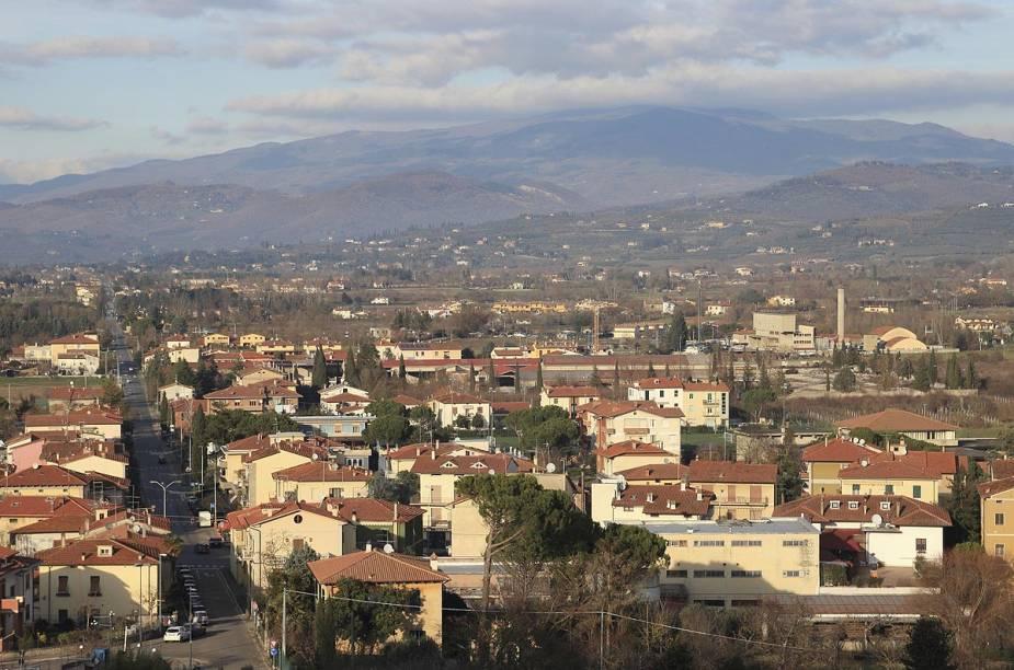 Vista da cidade de Arezzo, no centro da Itália