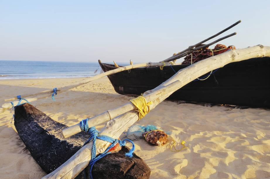 Canoa de pescadores em Palolem, Goa