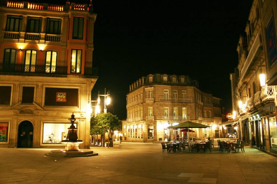 Plaza de Curros Enríquez, no Centro Antigo de Pontevedra