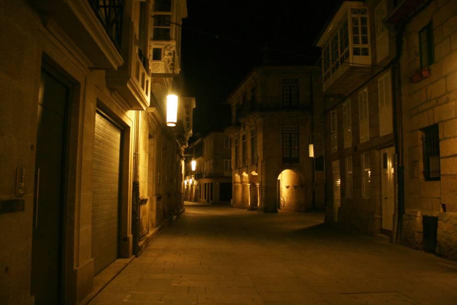 Rua Sarmiento, no Centro Antigo de Pontevedra