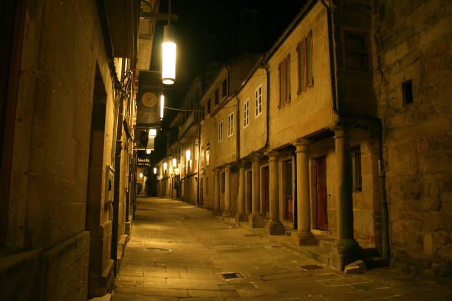 Rua Figueroa, no Centro Antigo de Pontevedra