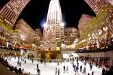 Decoração de Natal no Rockefeller Center, em Nova York