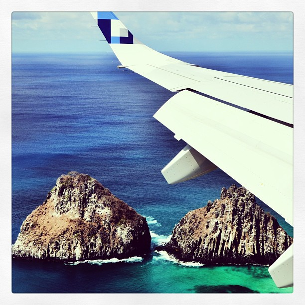 Morro Dois Irmãos do avião (foto: Anna Laura Wolff)