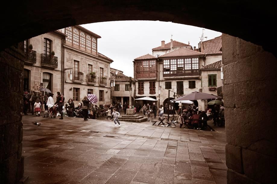 Plaza de Leña, em Pontevedra