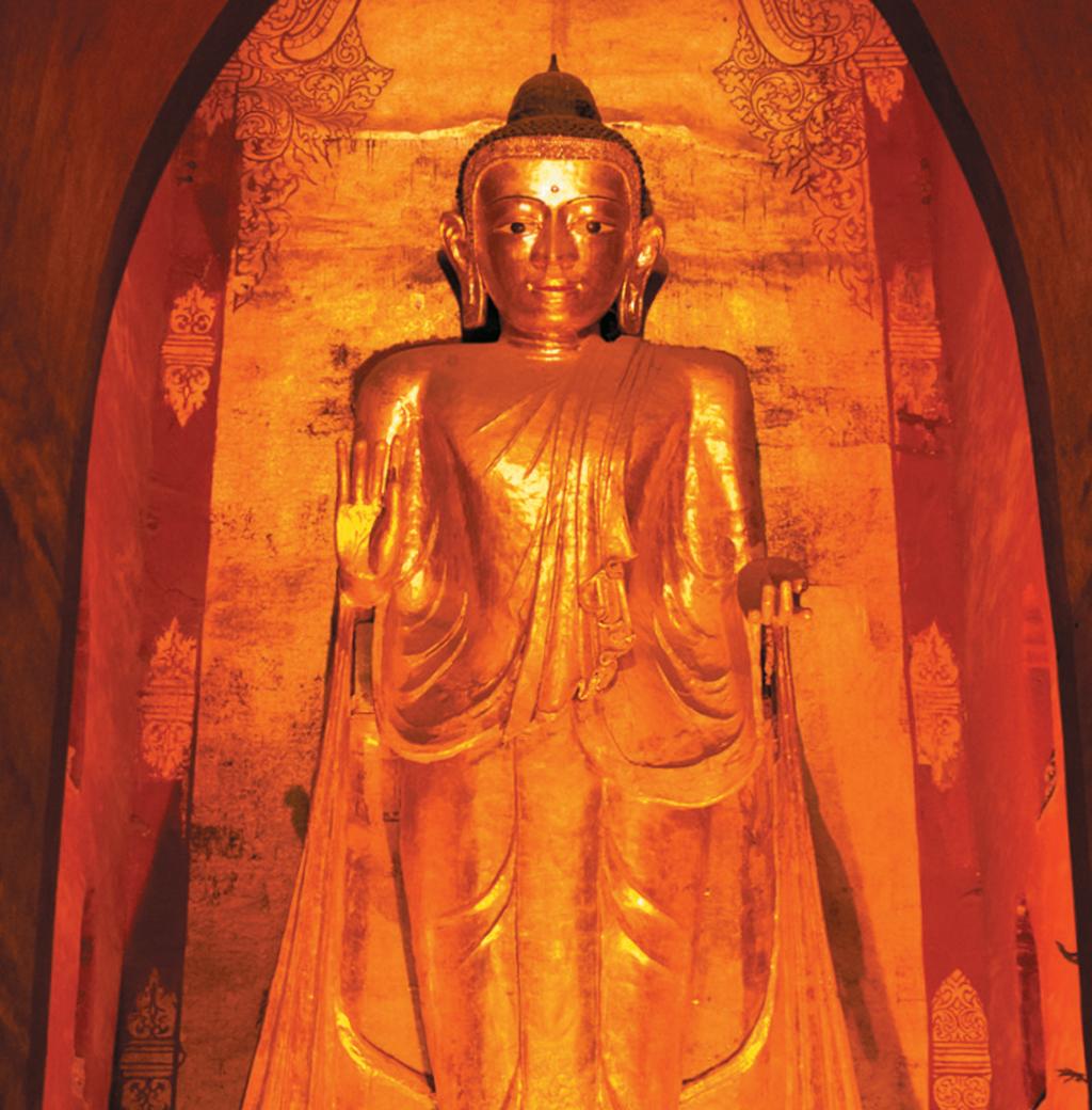 Matéria VT 202 - Buda gigante no templo Ananda, em Bagan