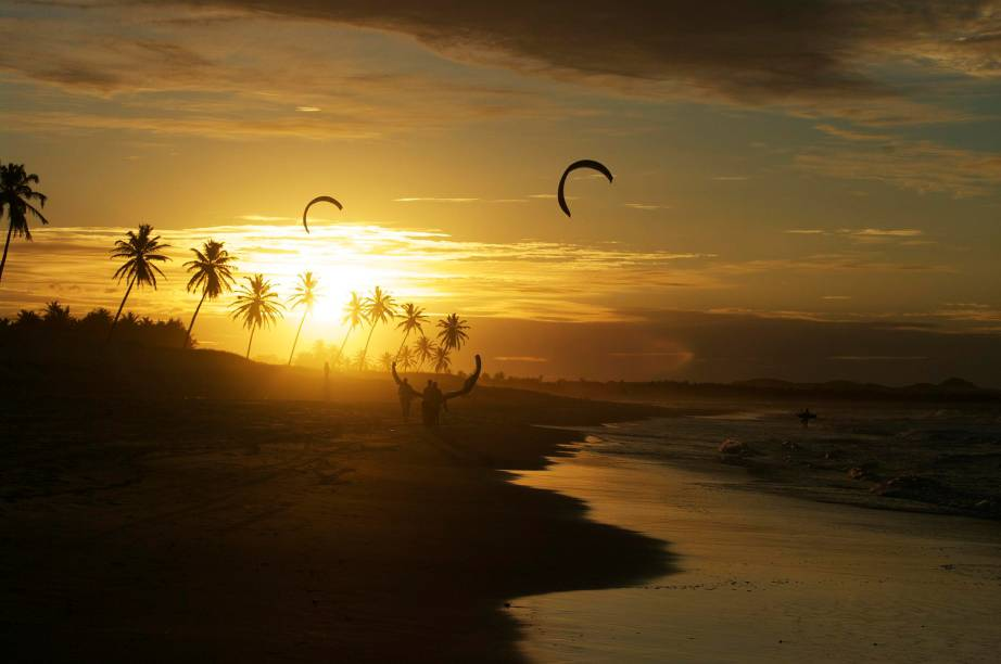 O pôr do sol de Cumbuco é famoso