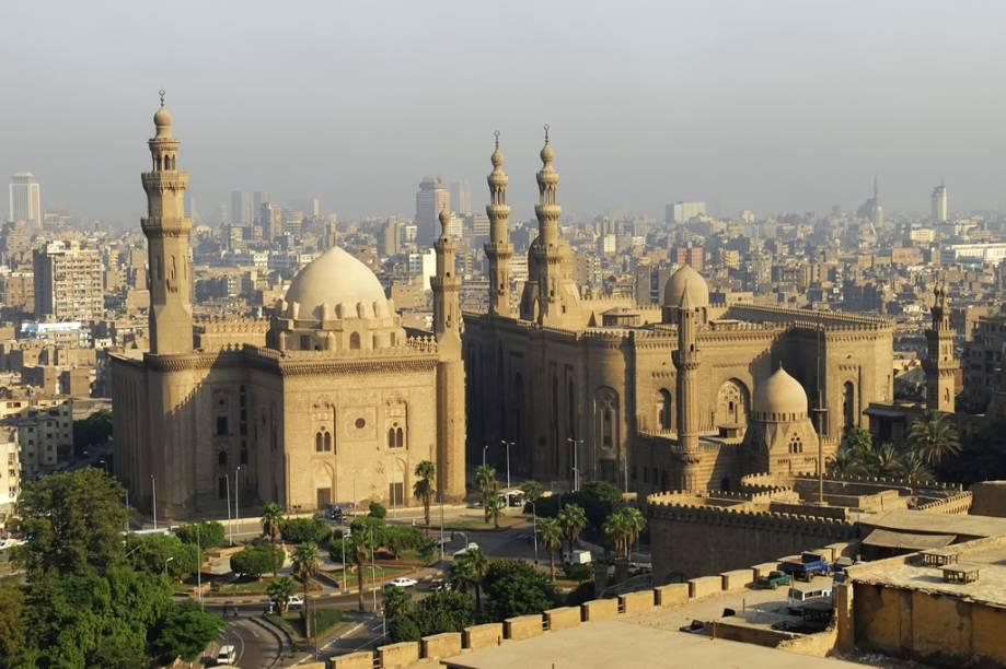 Mesquitas Sultão Hassan e El-Refai, no Cairo