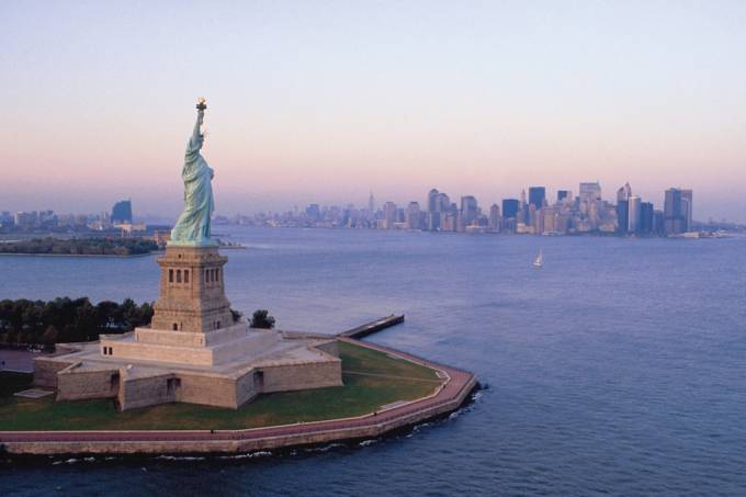Estátua da Liberdade, um dos pontos mais visitados de Nova York