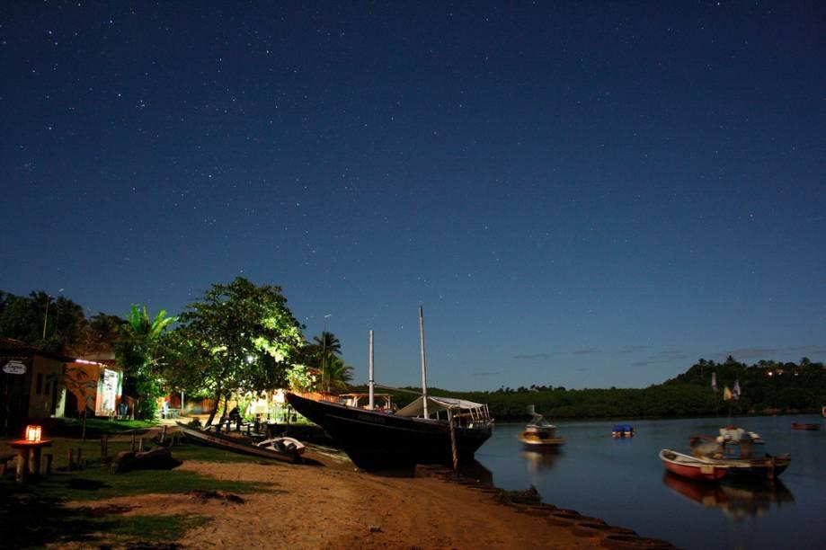 A ausência de iluminação pública em Caraíva é uma maneira de preservar a tranquilidade do local