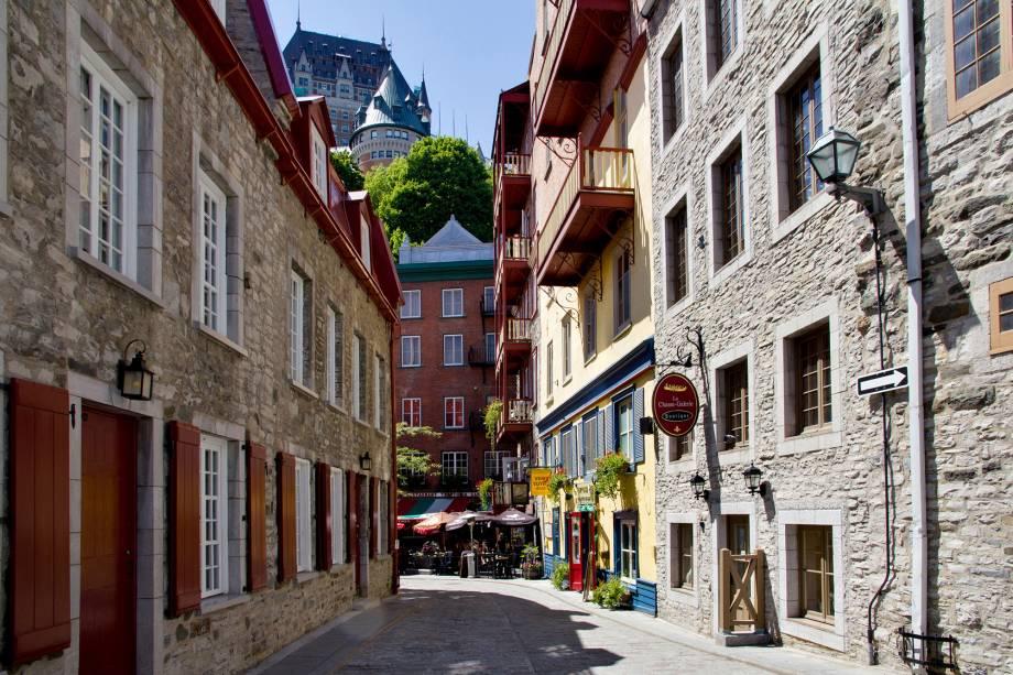 Uma das ruas da parte antiga de Quebec