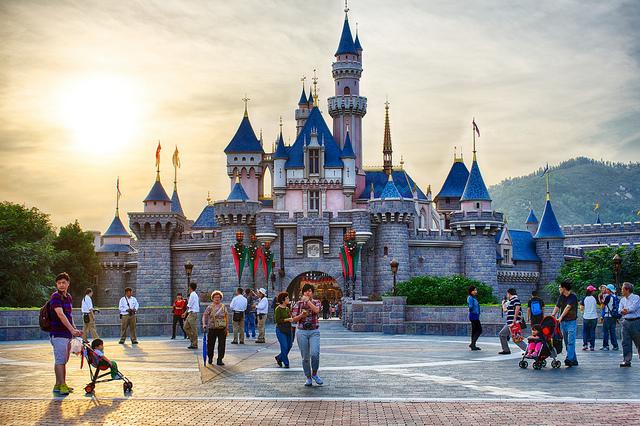 Castelo da Bela Adormecida da Disneyland de Hong Kong (Foto: Flickr | Creative Commons - CC BY 2.0 | Scott Cresswell)