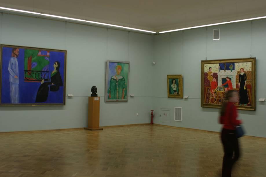 Com 1.057 salas, o Hermitage abriga 3 milhões de obras de arte, incluindo obras de Pablo Picasso, Pierre-Auguste Renoir e Leonardo da Vinci. Esta sala é dedicada a obras do pintor francês Henri Matisse