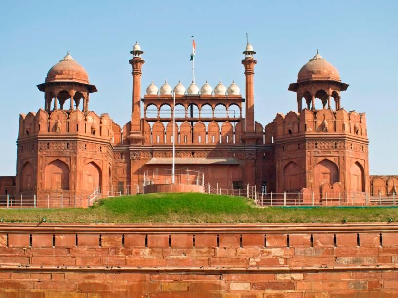 O Forte Red, em Nova Délhi, foi construído no século 17 pelo imperador mogol Shah Jahan e é um dos mais significativos símbolos da capital indiana