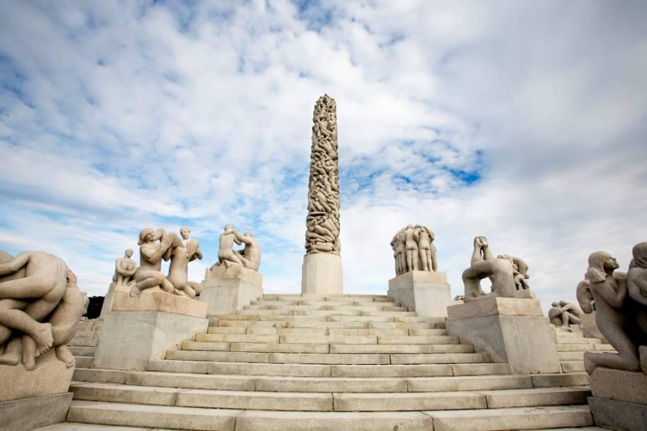 O parque de esculturas Vigeland, no Frogner Park de Oslo, é um dos programas imperdíveis na capital norueguesa